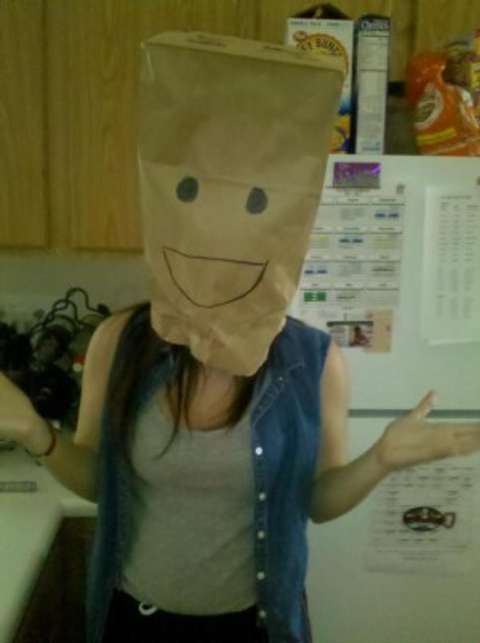 Me goofing off in high school.
