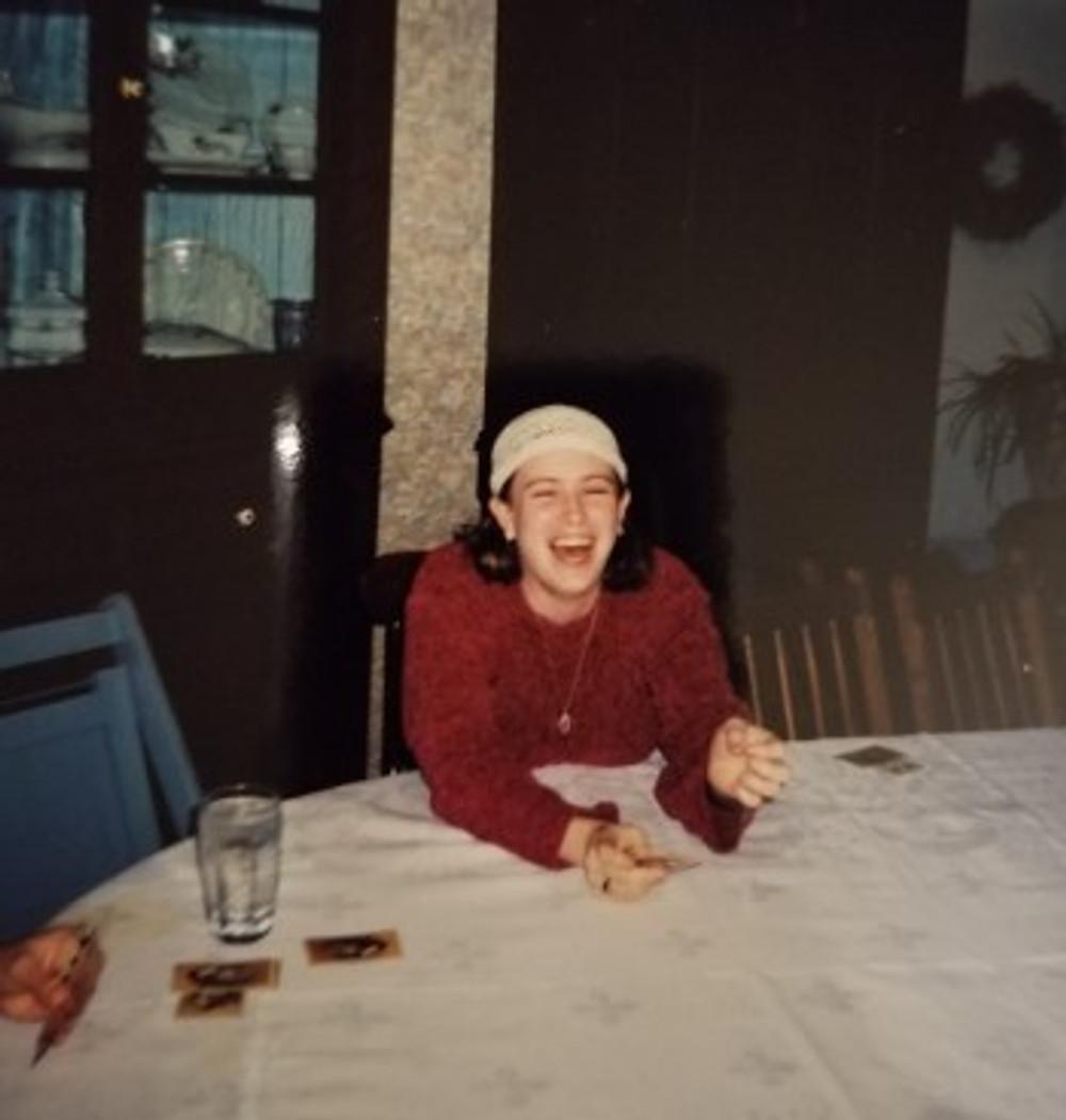 Me at Thanksgiving, c.2000.