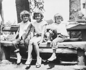 Me (on the far right) with my two sisters.