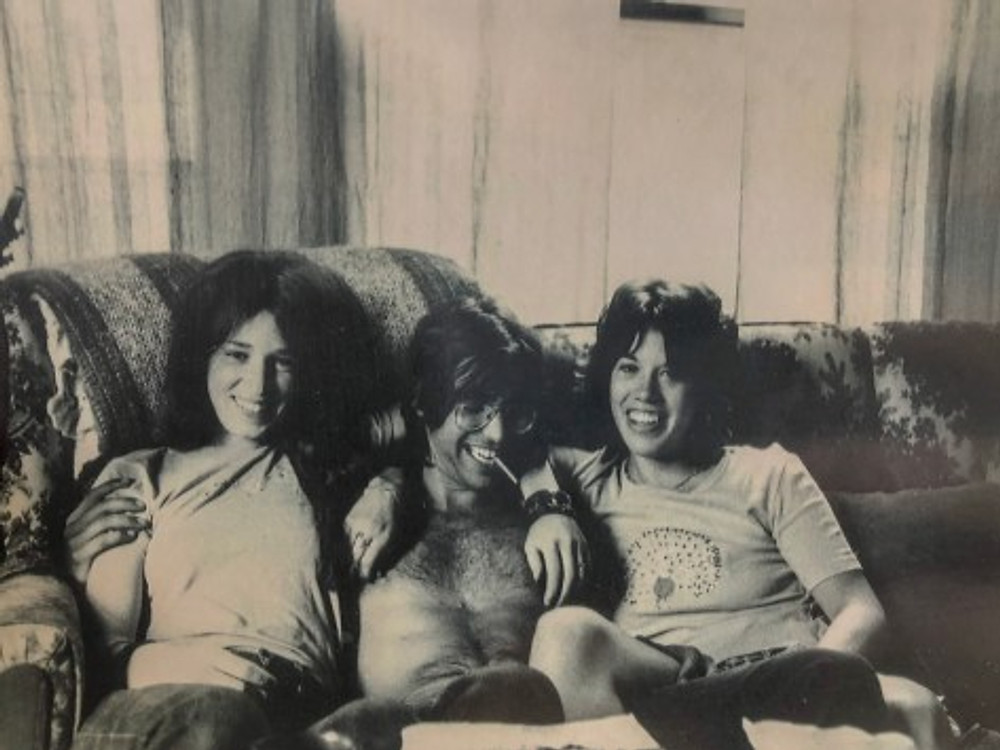 Me (middle) enjoying time with two friends at Syracuse University, New York, c. 1967.