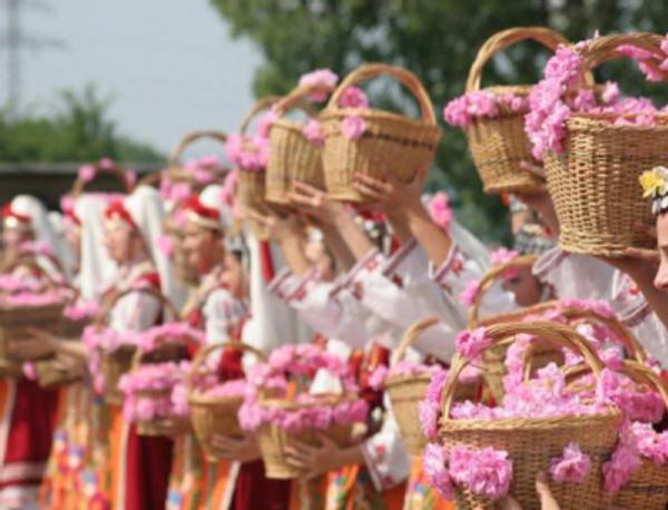 Traditional Rose Festival (Rosa Damascena is the symbol of the town of Kazanlak) | Image Courtesy of  Pinterest
