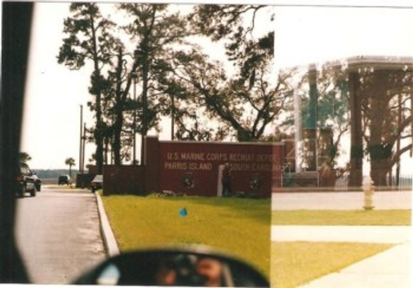 There she is—the Recruit Depot in Parris Island.