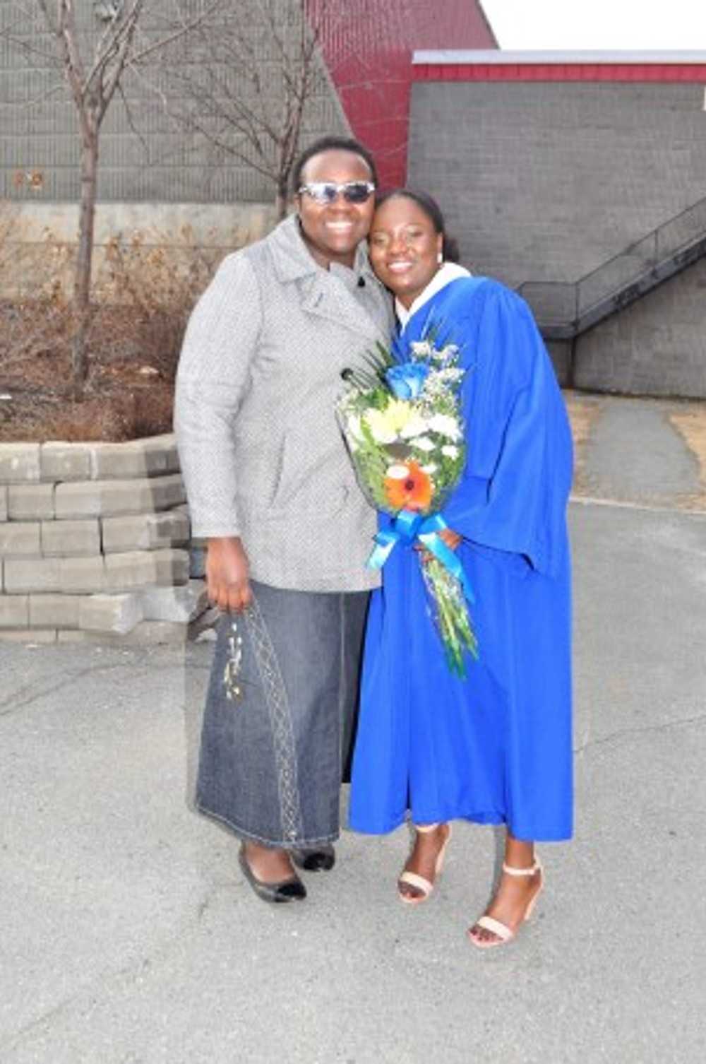 Me and my stepdaughter on her college graduation day.