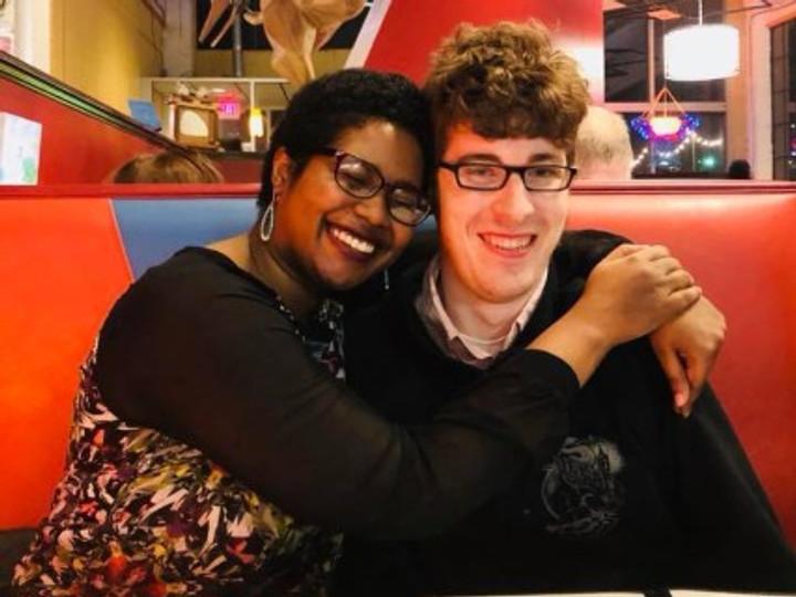 Jamila and her boyfriend, 2018.