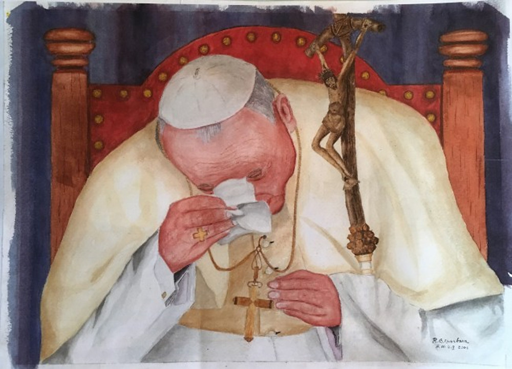 Bob Barbara's painting of Pope John Paul II.