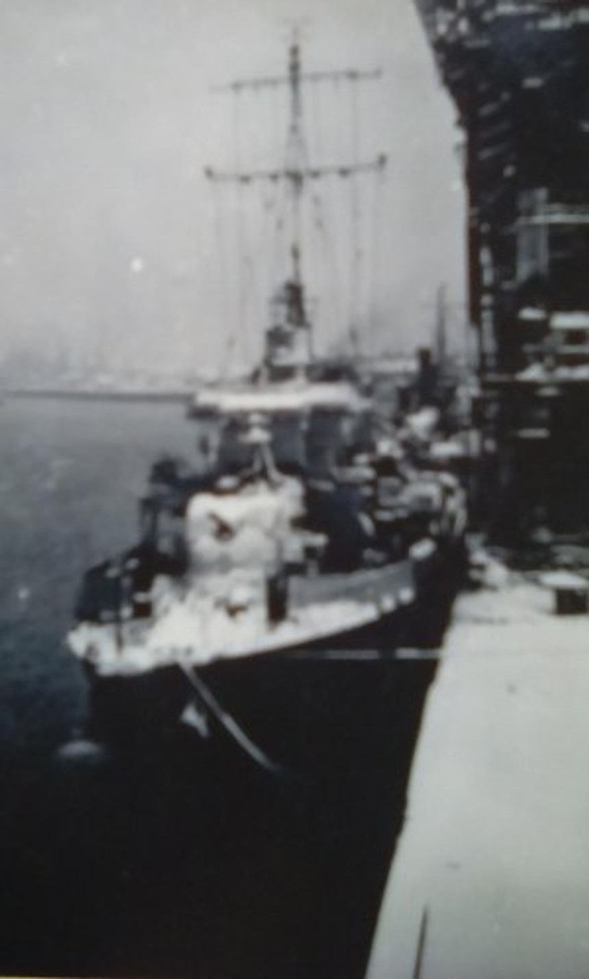 A photo taken of one of the naval shops I was on.
