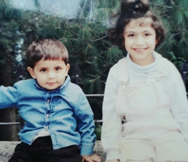 Me (six years old) and my bother Haider (two years old). This photo was taken at our last family vacation in 2001. Things got worse and we never went out together as a family again after this one last trip.