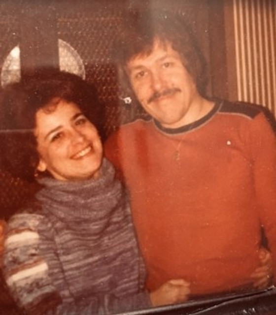 James with his wife Barbara in the 1970s.