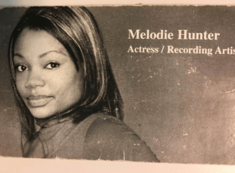 My old business card (I was 21 in this photo).