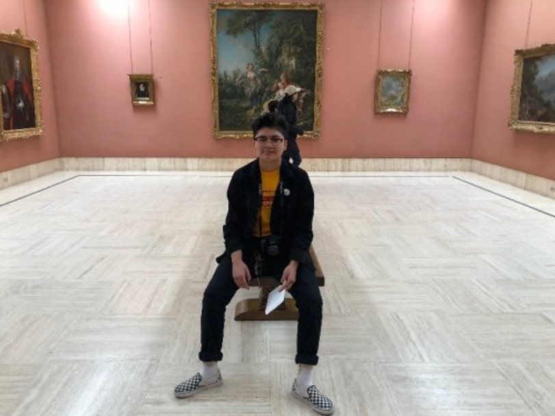 Liam Phu at the Timken Museum of Art, 2019.