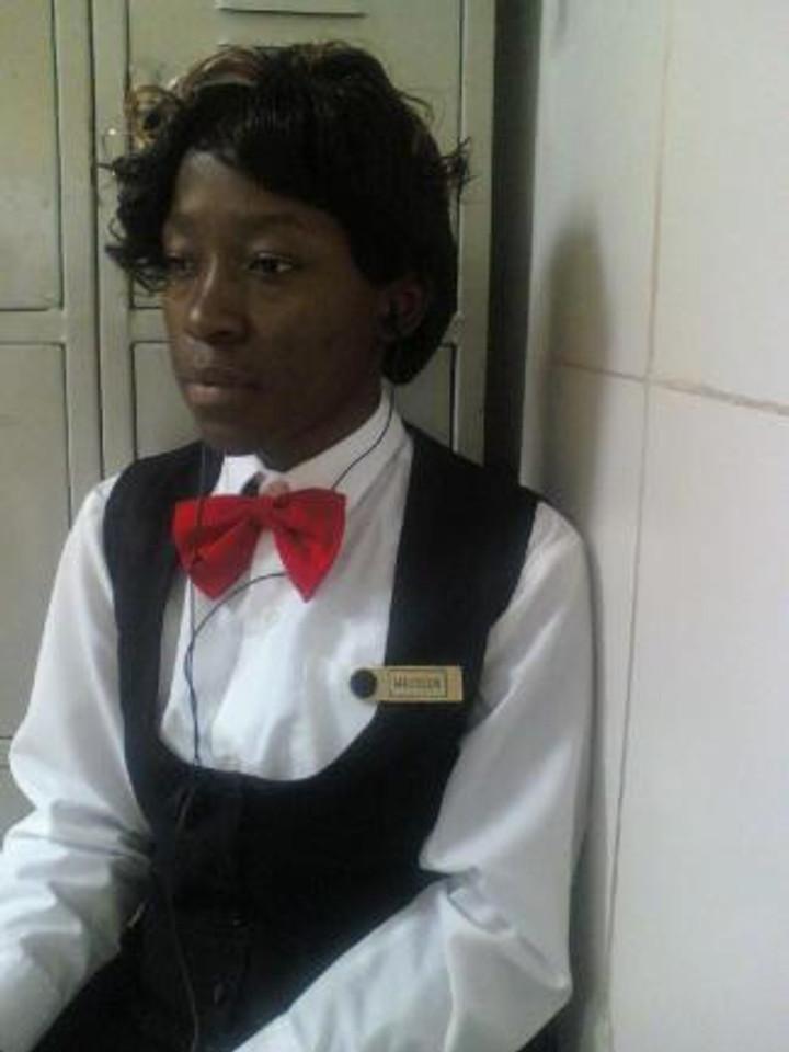 Working as a casino dealer, 2012.