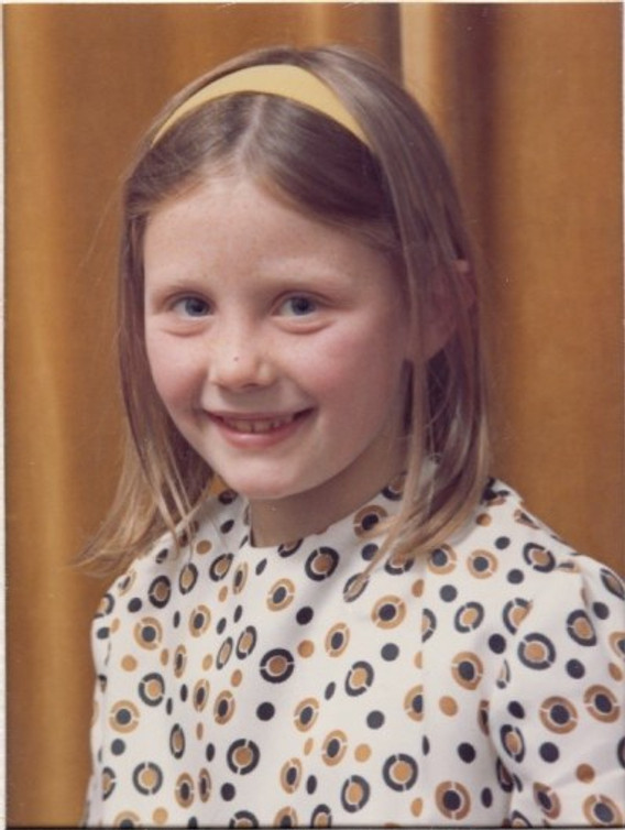 Me, seven years old.