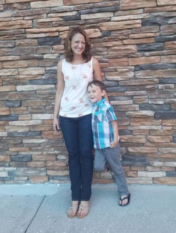 Cortni and her son, 2018.