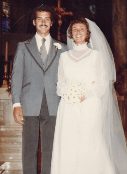 Our wedding day, 1978.