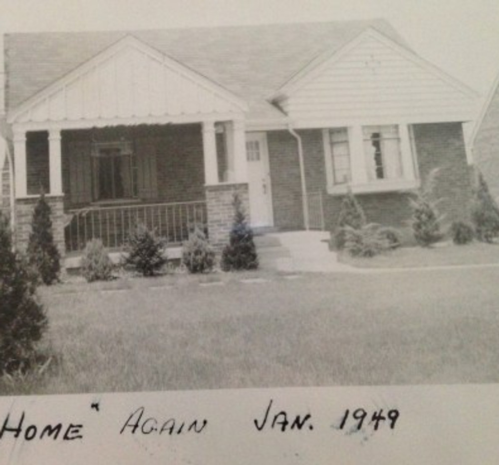 Our house on Sunridge Drive, 1949.