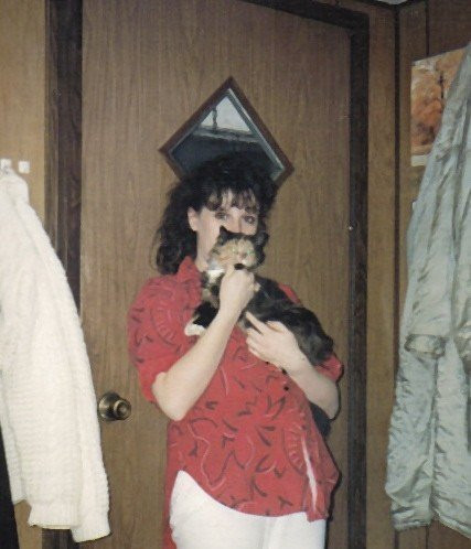 Me, pregnant at 21 years old.