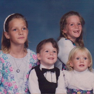 My siblings and me (I'm on the top right).
