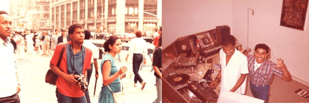 Two of the hobbies I pursued in New York, photography (left) and music mixing (right).