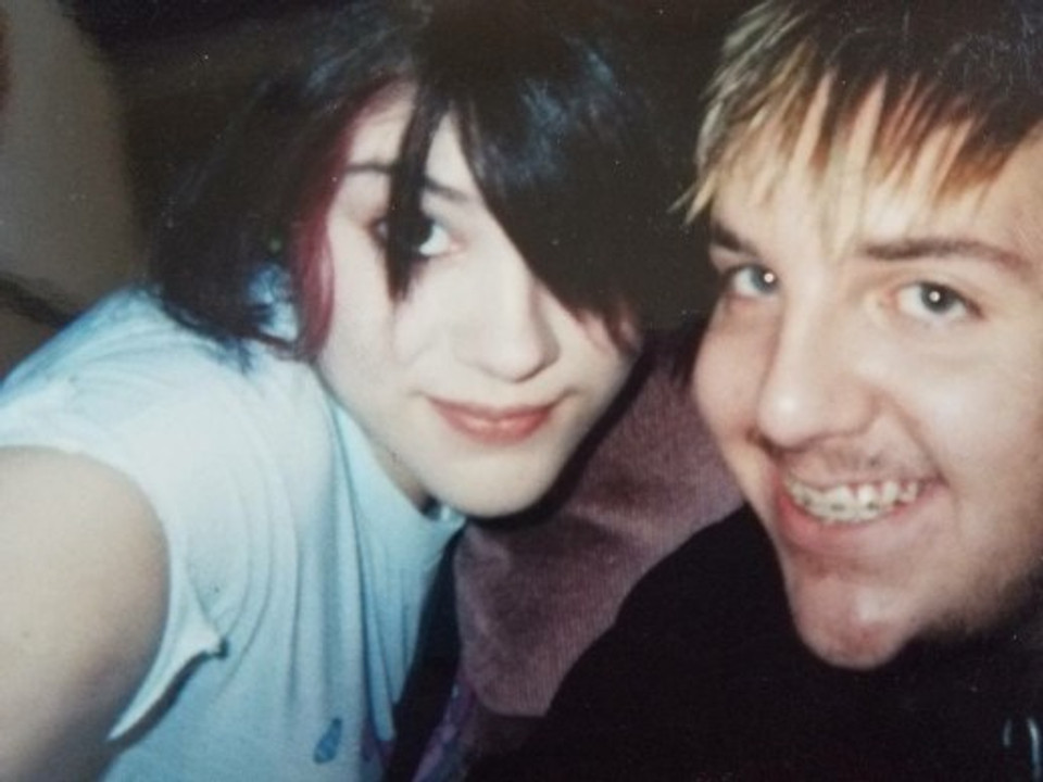 One of my Myspace photos: me and my best friend, Katie, in my freshman year of high school
