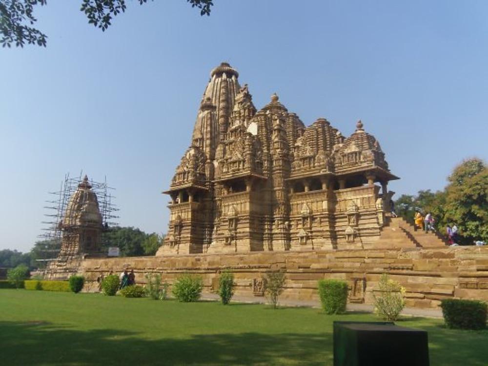 Vishvanata temple in Khajuraho, dedicated to Shiva.