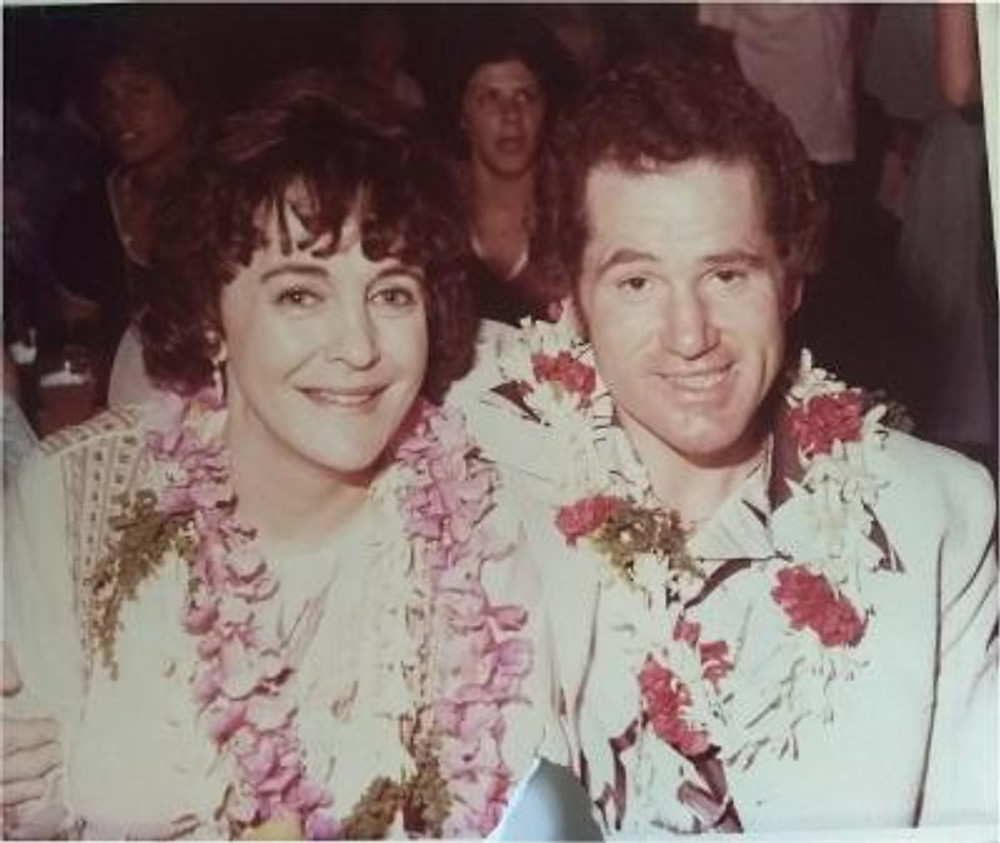Richie and me on our honeymoon, 1980.