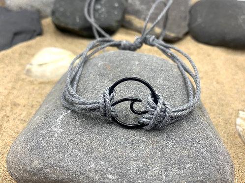 Infinite Wave Bracelet - Stone grey