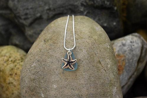 Black Sea Glass Necklace