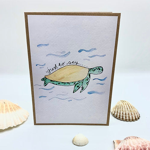 'Just To Say' Turtle Card