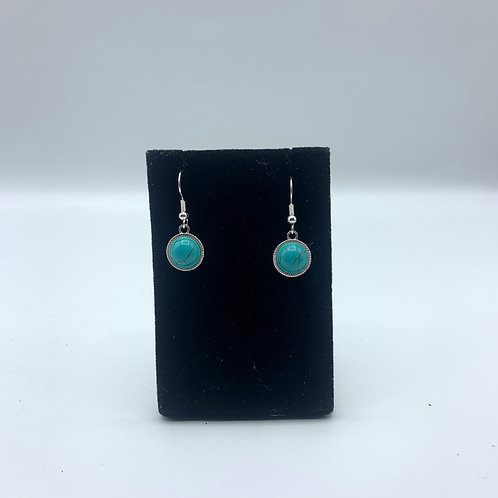 Turquoise Moon Earrings