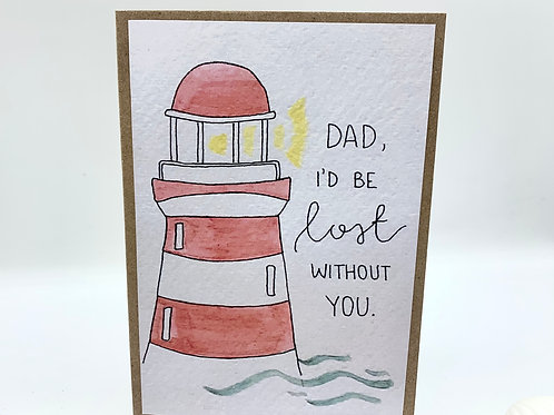 Lighthouse Father's Day Card