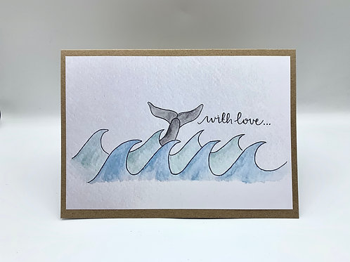 'With Love' Dolphin Card