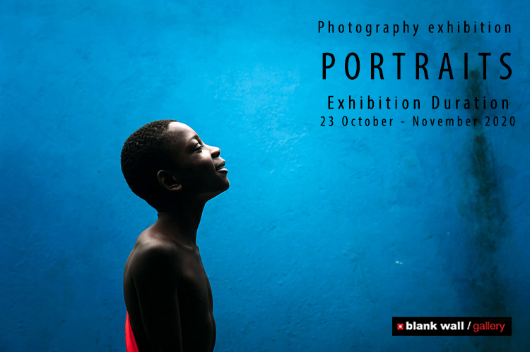 "Group exhibition_International Photographers_"" Portraits "" Blank wall gallery_Athens"