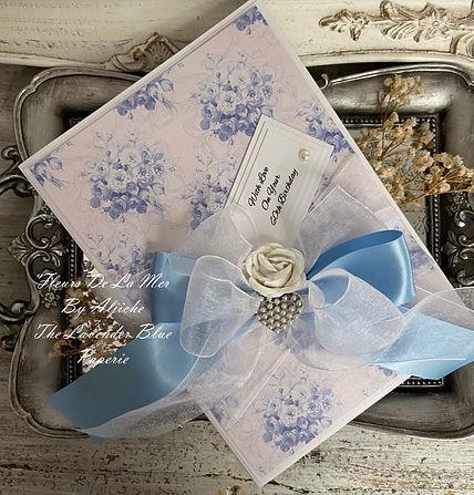 Fleurs De La Mer/ 60th Birthday Card/ The Lavender Blue Paperie