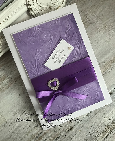 Sabine 18th Birthday Card/ The Lavender Blue Paperie