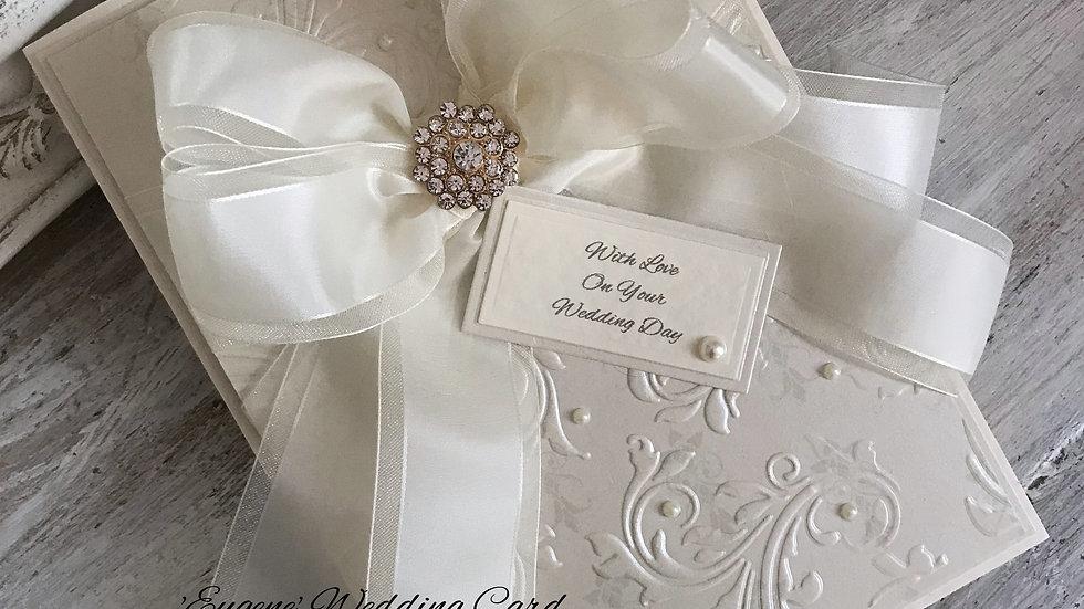 personalized wedding card, romantic wedding card, luxury wedding card, handmade wedding card, #thelavenderblue.com