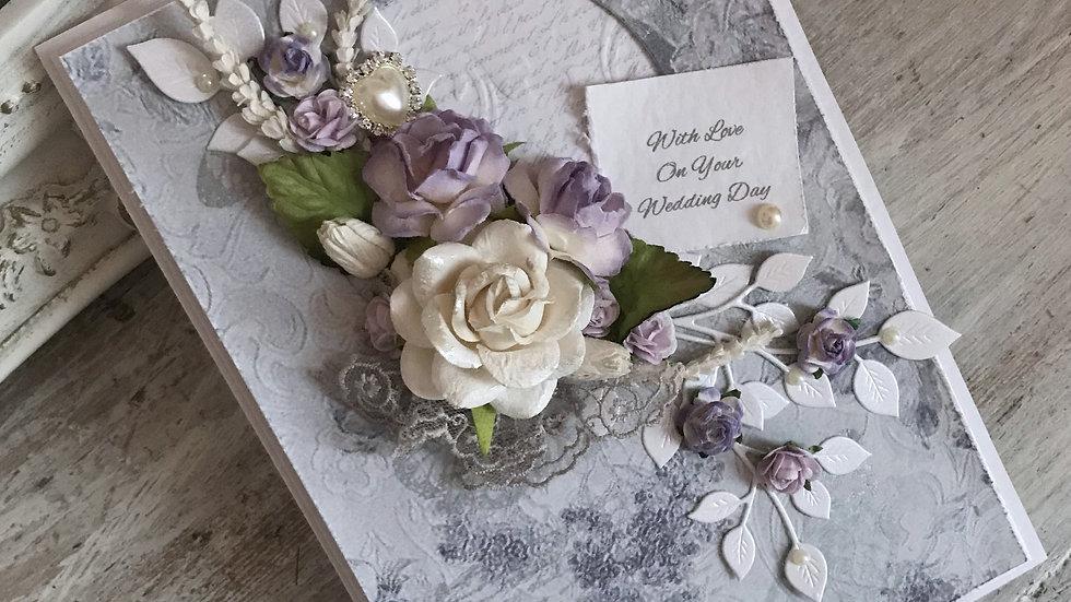 personalized wedding card, romantic wedding card, luxury wedding card, handmade wedding cards, #thelavenderblue.com