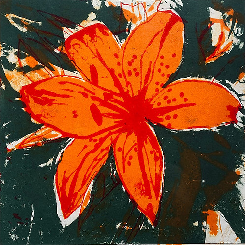 Asiatic Lily - Collograph 1/10 VE