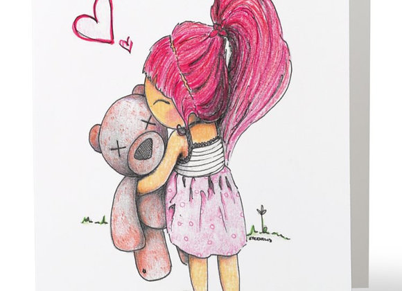 Little girl and the bear