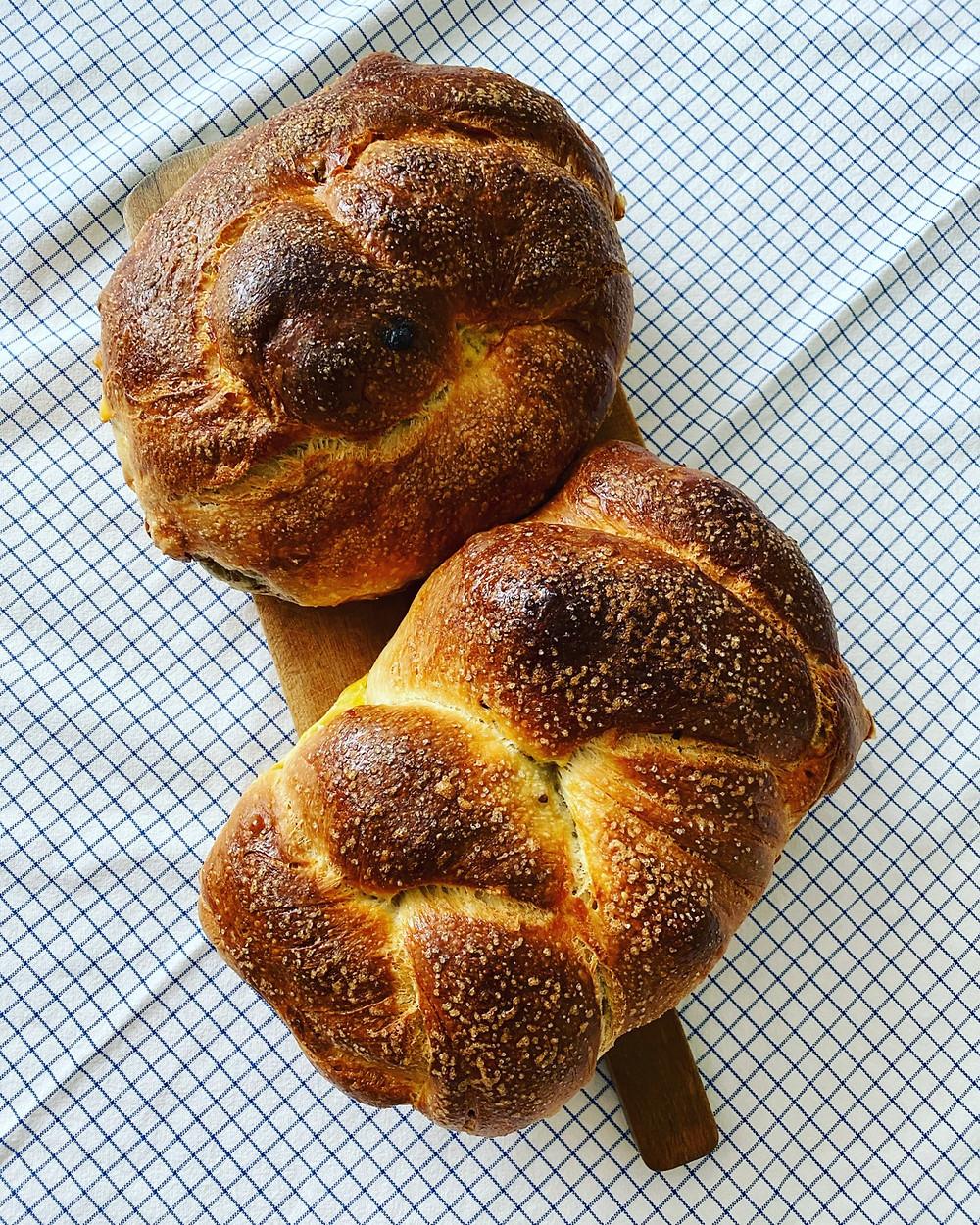 Easter sourdough bread