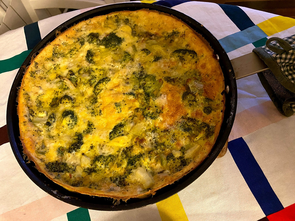 Broccoli and gorgonzola frittata