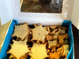 Бисквити с мандарина, лимон и коледни аромати