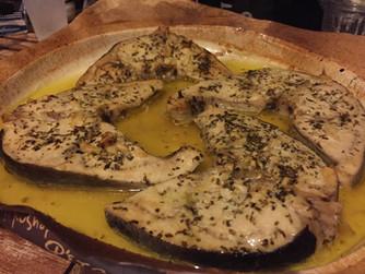 Котлети от риба меч в лимоново-маслен сос