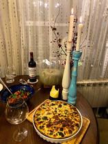 Киш със сьомга, броколи и рикота