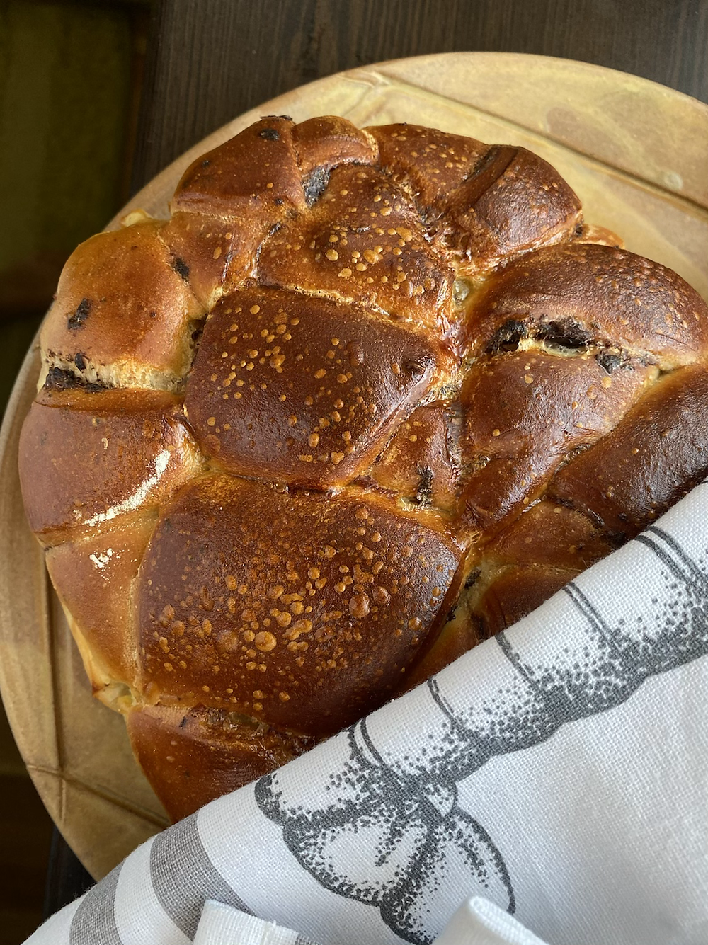 sourdought bread with mozzarella filling