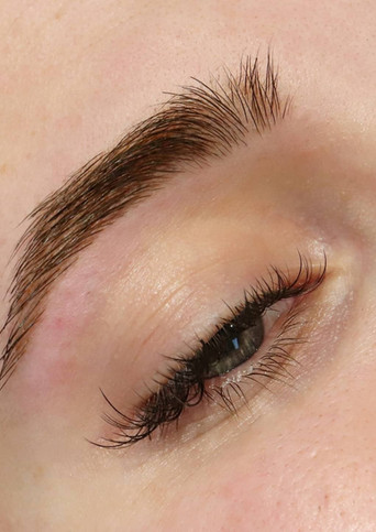 Brow shape and tint