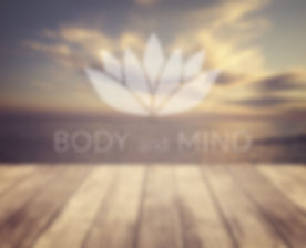 Body and mind. Poster for yoga class wit
