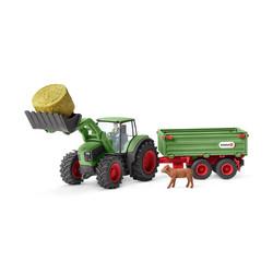 Tracteur avec remorque Schleich