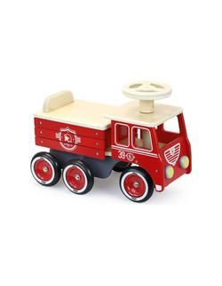 Porteur camion de pompiers Vilac