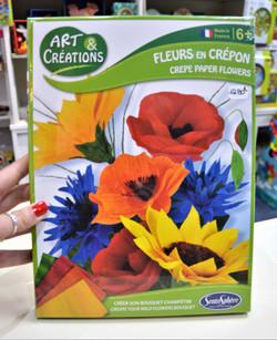 Art & Créations fleurs en crêpon 6 ans+ Sentosphère