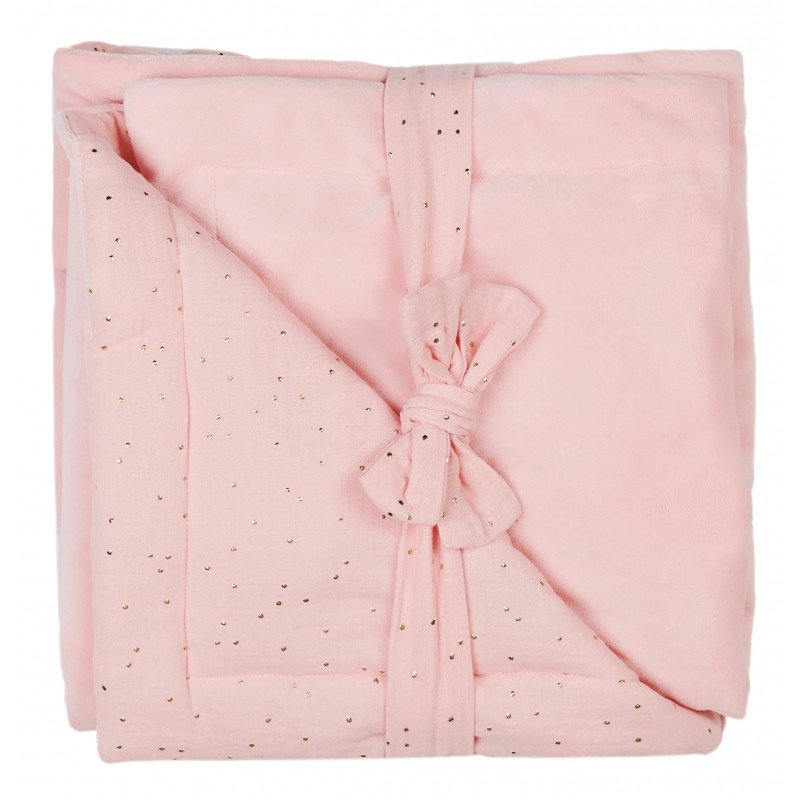 Couverture luxe rose BB&co